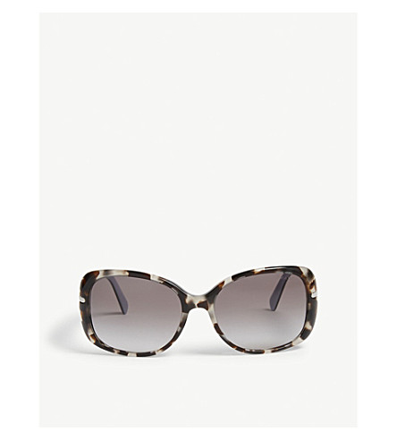 PRADA 0PR 08OS Havana butterfly sunglasses (Brown