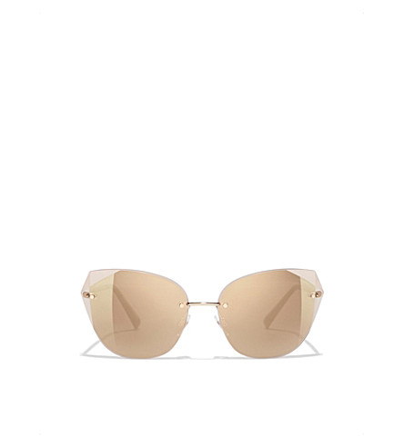 CHANEL Cat eye sunglasses (Pale+gold