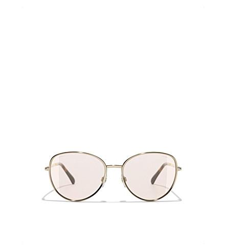 CHANEL CH2182 pilot-frame sunglasses (Gold