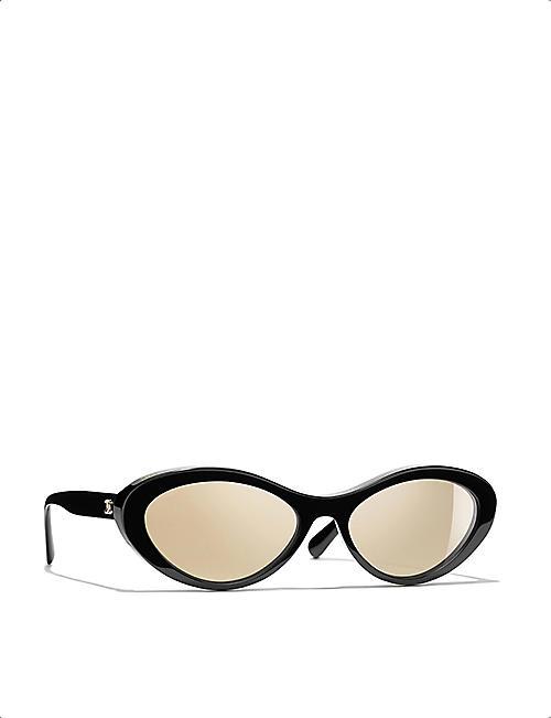 CHANEL Oval sunglasses