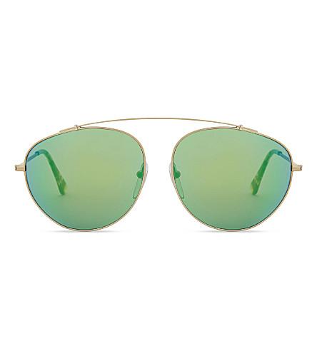 RETRO SUPER FUTURE Ruf3 aviator sunglasses (Yellow