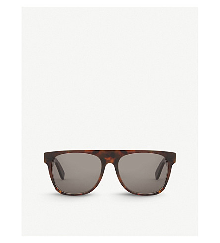 RETRO SUPER FUTURE Havana square-frame sunglasses (Tortoise