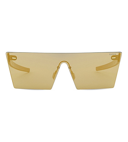 RETRO SUPER FUTURE Tuttolente square-frame sunglasses (Gold