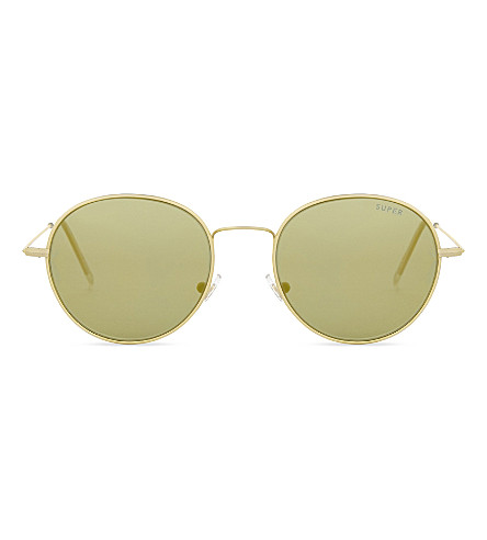 RETRO SUPER FUTURE Wire Zero round-frame sunglasses (Gold