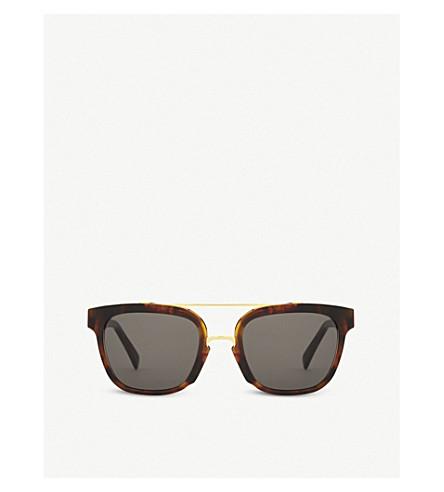 RETRO SUPER FUTURE Akin tortoiseshell square-frame sunglasses (Tortoise