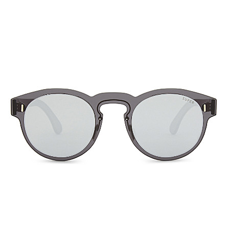 RETRO SUPER FUTURE Paloma round-frame sunglasses (Silver+black