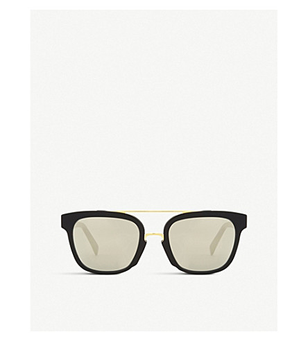 RETRO SUPER FUTURE Akin square-frame sunglasses (Black