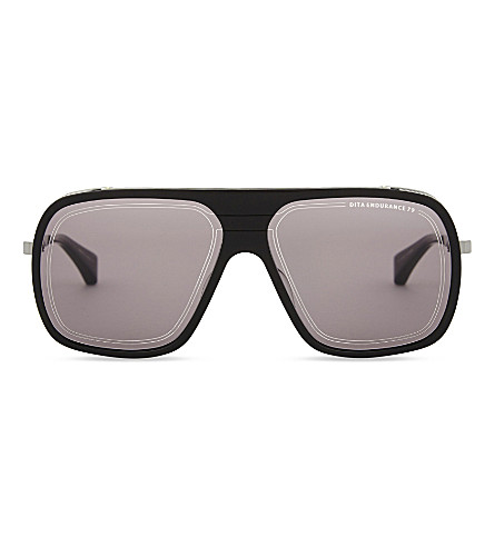 DITA Endurance 79 square-frame sunglasses (Black+black