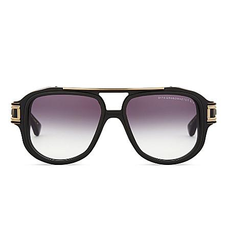 DITA Grandmaster-Six pilot-frame sunglasses (Black+yellow