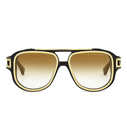 DITA Grandmaster-Six pilot-frame sunglasses (Black+pink