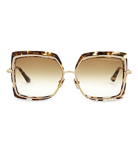 DITA Narcissus square-frame sunglasses (Tortoise+white