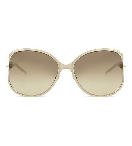 GUCCI Gg4250 chain link butterfly-frame sunglasses