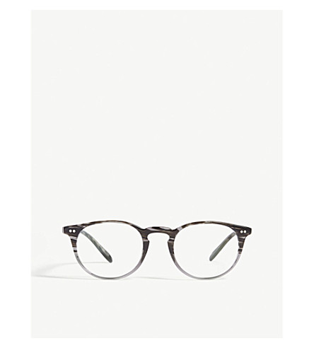 ce4245b0f8b OLIVER PEOPLES Riley-R round-frame optical glasses (Grey