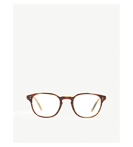 OLIVER PEOPLES Square-frame optical glasses (Brown
