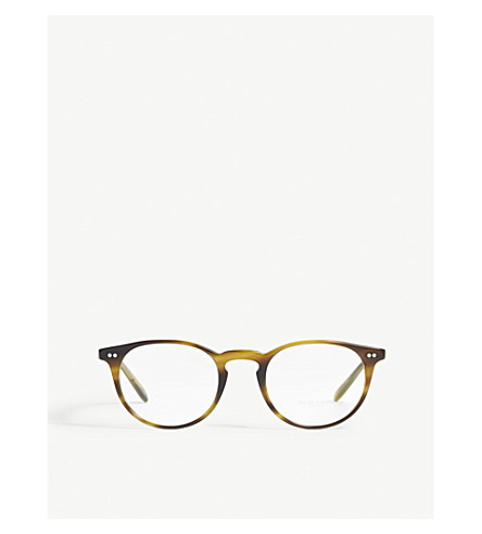 OLIVER PEOPLES Round-frame optical glasses (Brown