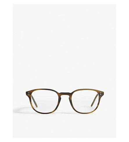 OLIVER PEOPLES Square-frame optical glasses (Brown