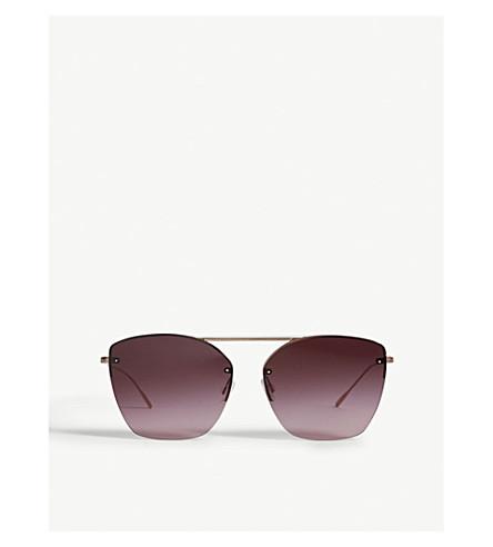 OLIVER PEOPLES Ziane irregular-frame sunglasses (Pink