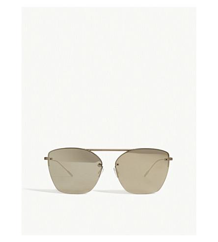 OLIVER PEOPLES Ziane irregular square-frame sunglasses