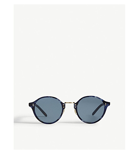 OLIVER PEOPLES Op5185s 1955 round-frame sunglasses (Blue