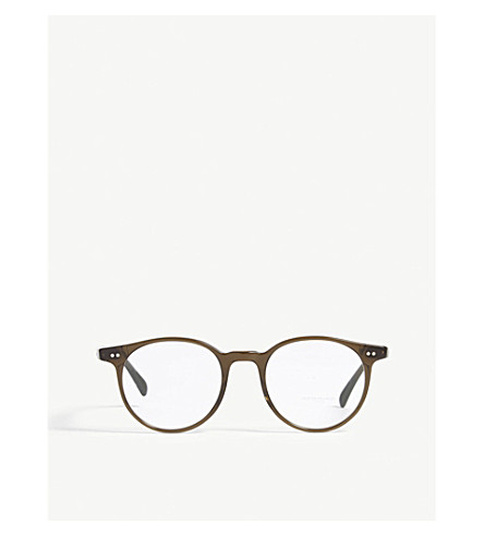 OLIVER PEOPLES Delray round-frame optical glasses (Green