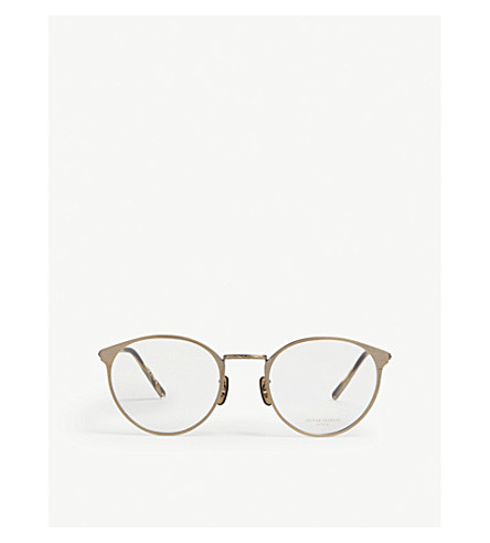 OLIVER PEOPLES Hanneli round glasses (Gold
