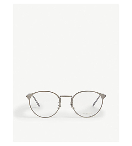 OLIVER PEOPLES Hanneli round glasses (Gunmetal