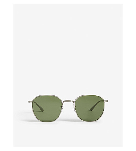 OLIVER PEOPLES Ov1230 Board Meeting 2 square-frame sunglasses (Silver