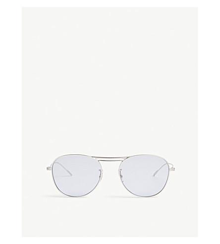 OLIVER PEOPLES Cade pilot-frame sunglasses (Silver