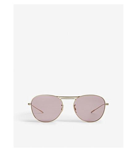OLIVER PEOPLES Cade pilot-frame sunglasses (Gold