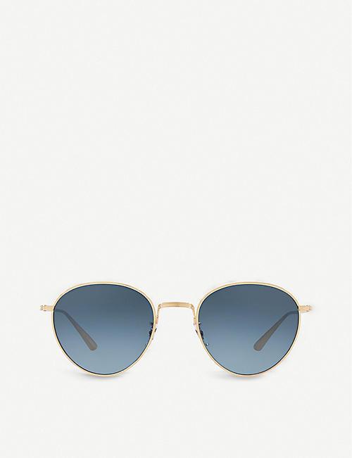 OLIVER PEOPLES OV1231 Brownstone 2 round-frame sunglasses