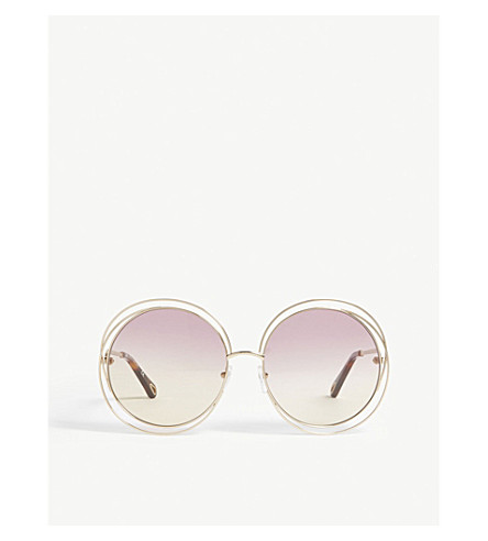 a5eb7dddca ... CHLOE Carlina CE114SD round sunglasses (Honey. PreviousNext
