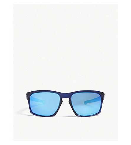 OAKLEY银色长方形框架太阳镜 (蓝色