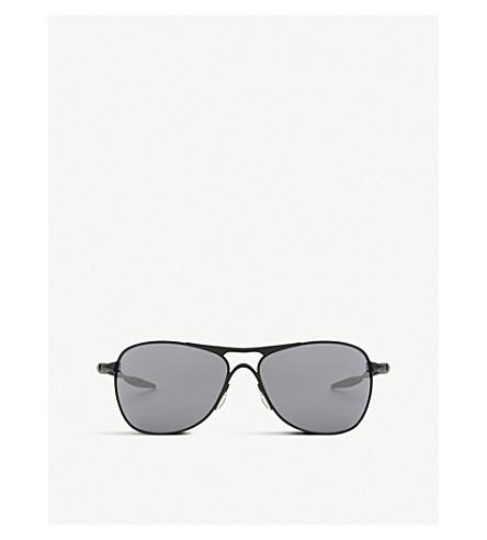OAKLEY Oo4060-03 black Iridium Crosshair ® square-frame sunglasses (Clear