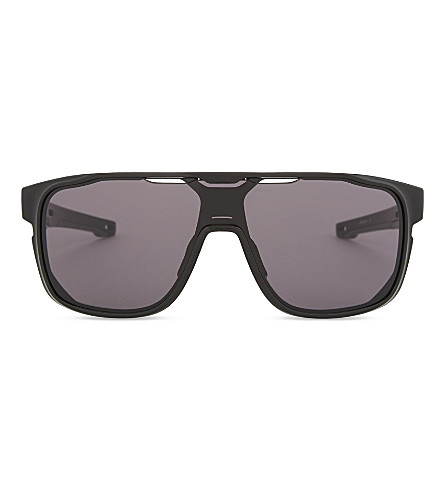 OAKLEY Crossrange Shield rectangle-frame sunglasses (Black