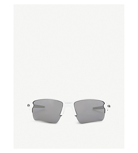 OAKLEY Flak® 2.0 XL rectangle-frame sunglasses (White