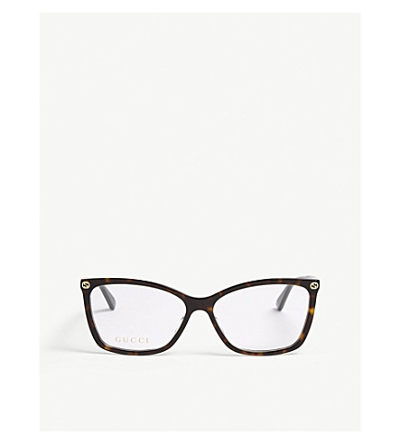 GUCCI Gg0025o oval-frame glasses (Brown