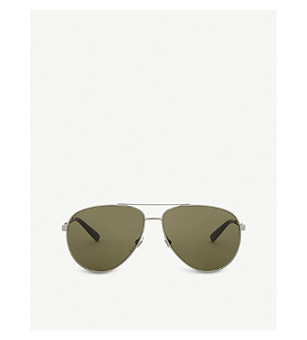GUCCI Gg0137s aviator-frame sunglasses