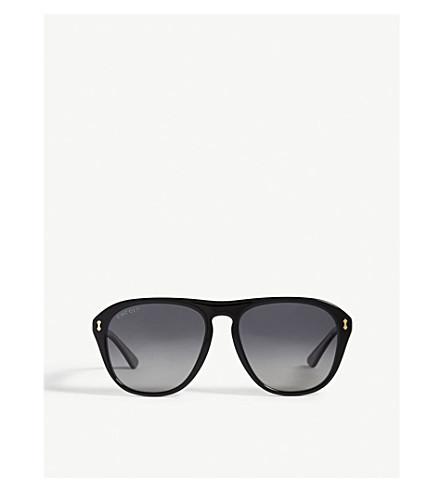 GUCCI GG0128S aviator-frame sunglasses