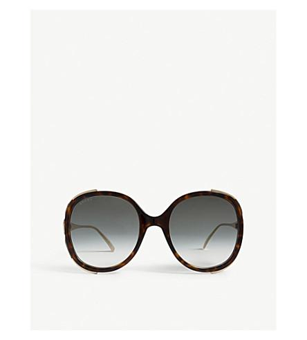 GUCCI GG0226s oval-frame sunglasses (Havana