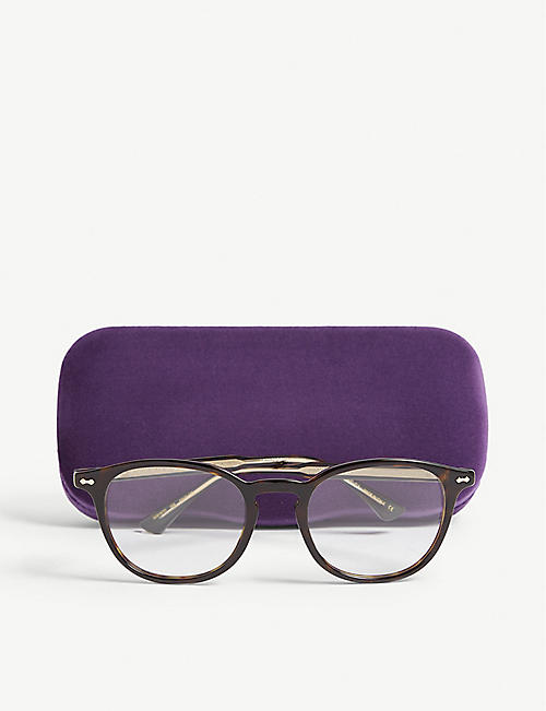 GUCCI GG0187O round-frame Havana glasses
