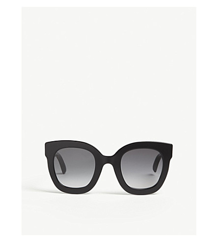 GUCCI Gg0208 oval-frame sunglasses (Black