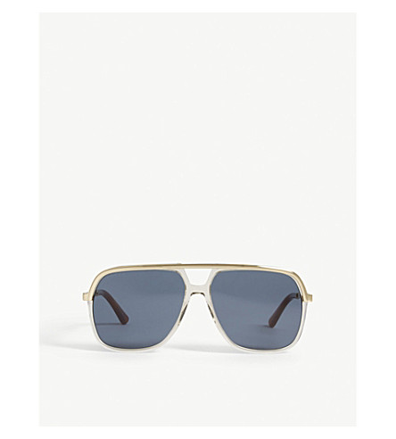 GUCCI GG0200 rectangle-frame sunglasses (Brown