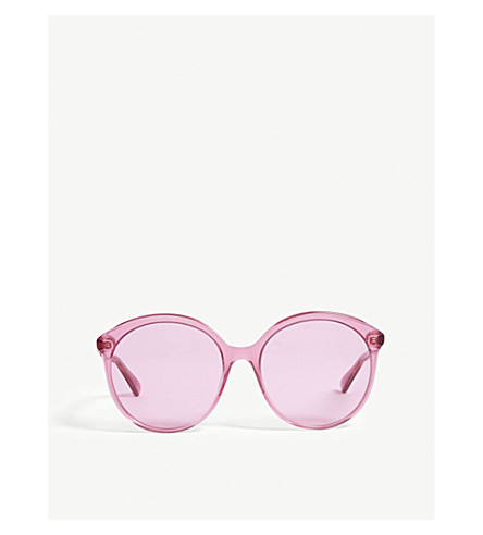 GUCCI Round-frame sunglasses (Red