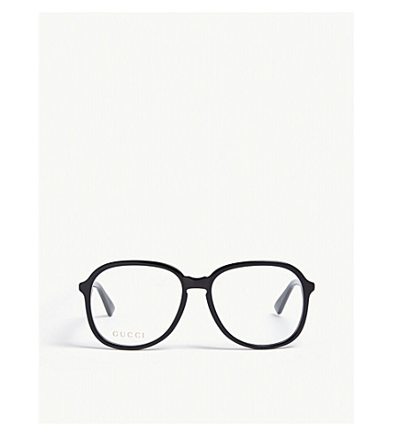GUCCI GG0259O oval optical glasses (Black
