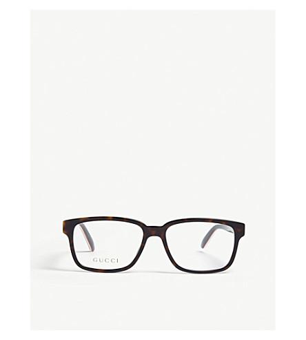 GUCCI GG0272O tortoiseshell rectangle glasses (Black