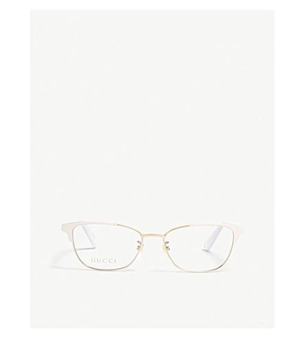 GUCCI GG0248O oval glasses (Cream