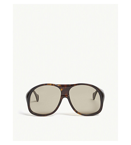 GUCCI Gg0243s oval-frame sunglasses (Havana