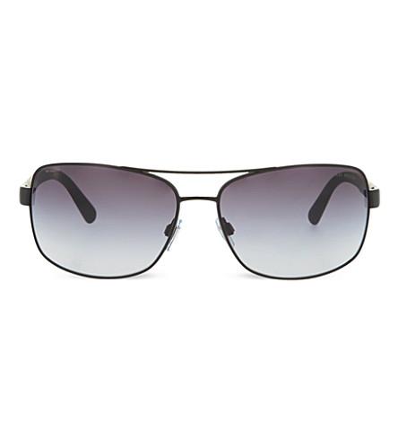 GIORGIO ARMANI Matte aviator sunglasses (Matte+black