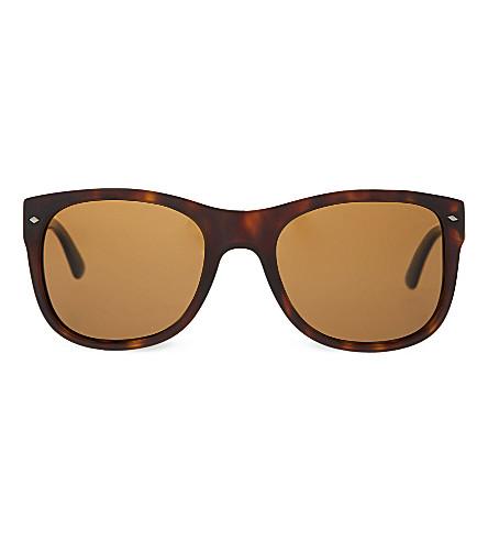 GIORGIO ARMANI Brown tortoise sunglasses (Matte+dark+havana
