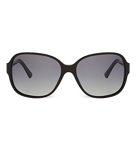 GIORGIO ARMANI Black square sunglasses (Black
